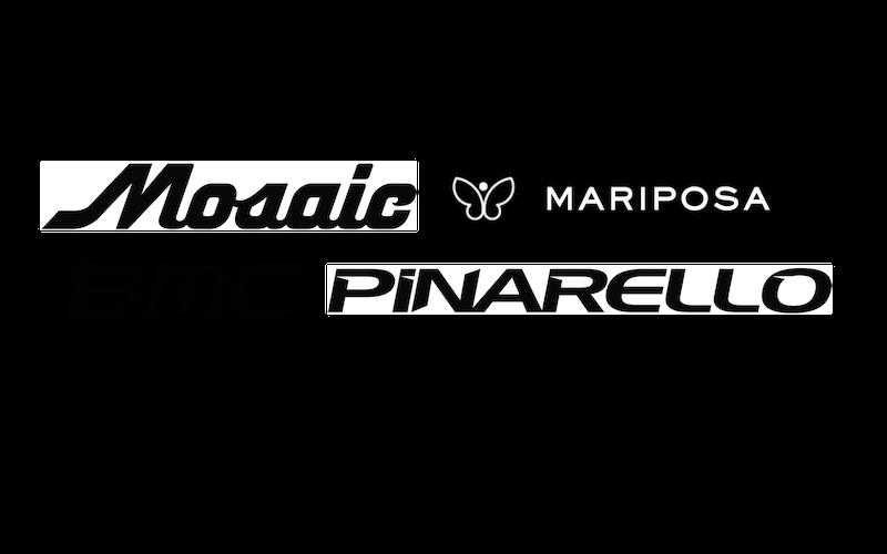 Mosaic, Mariposa, BMC, Pinarello